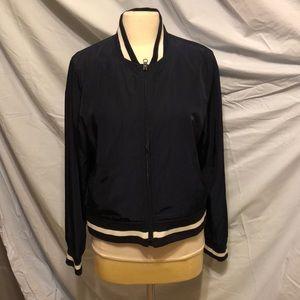 gap striped bomber jacket